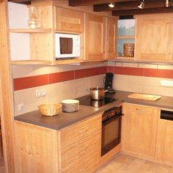 Kitchen area in apartment Petaru Meribel