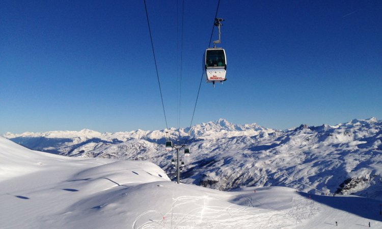 High altitude skiing in Les Menuires