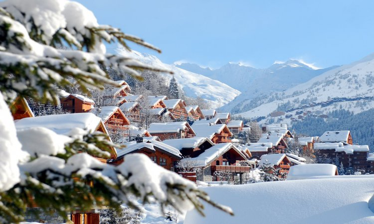 Snowy Chalets in Meribel