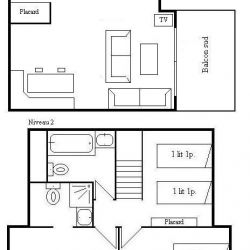 Apartment Fermes de Meribel 413 Meribel Village Floorplan