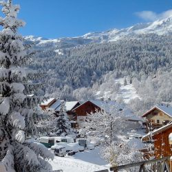 Meribel in the snow