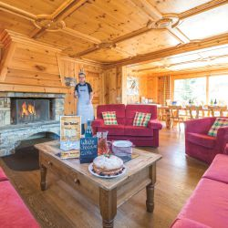 Chalet L'Ancolie Living Room with Open Fire